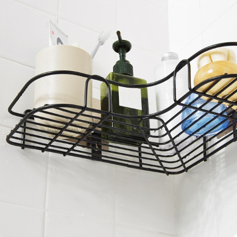 Ванна стена полка ванная аксессуары дырокол бесплатно угол ванная полка ванная сантехника кованое железо место для хранения стеллаж кухня штатив