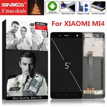 5.0 Original For XIAOMI Mi 4 LCD Display Touch Screen with Frame Digitizer Mi4 Replacement