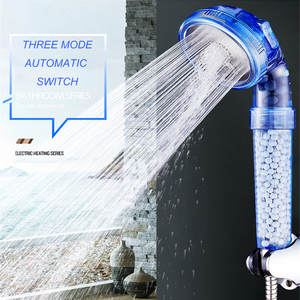 Shower-Head Bath with Negative-Ion Activated Balls Beads Boosting Utility-Head WATER-SAVING-FILTER