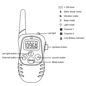 Image 5 - Petrainer 998D 1 300M Remote Control 100LV Shock + Vibra Electric Dog Training Collar for dogs