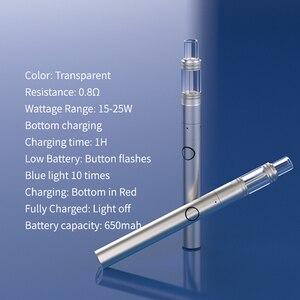 Image 3 - Original 2 in 1 Longmada Macic Flute Vape Kit 650mAh Battery No Exposed Wire Wax CBD Vaporizer Vape Pen With Dab Tool