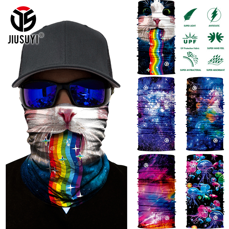 3D Seamless Bandanas Starry Sky Magic Scarf Neck Warmer Gaiter Cover Face Head Bandana Headband Headwear Bicycle Scarves Men