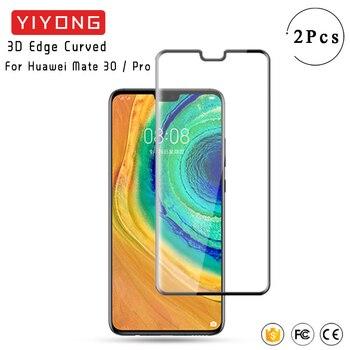 YIYONG 3D Edge vetro curvo per Huawei Mate 30 20 Pro vetro temperato P40 P30 Pro pellicola salvaschermo per Huawei Mate 40 Pro Mate40