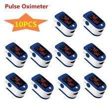 In Stock 10pcs Finger Oximeter Plastic SpO2 PR Silicone Led Display Fingertip Blood Pulse Oximeter Heart Rate Monitor Fast Shipp