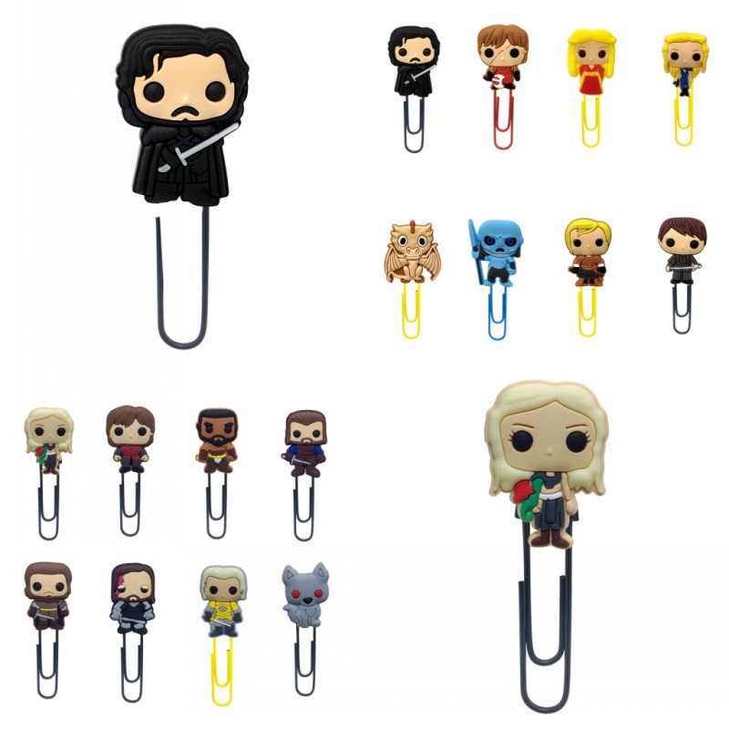25pcs Game Of Thrones Bookmarks For Books Hot Mini Figures Book Mark Paper Clips For School Teacher Office Supply Gift For Kids