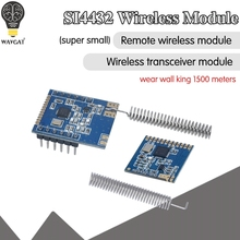1 компл. Mini SI4432 Беспроводная модель 240 МГц 930 МГц + пружинная антенна, расстояние 1000 м