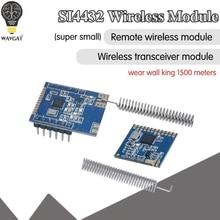 1 Set Mini SI4432 جهاز الإرسال والاستقبال اللاسلكي عن بعد وحدة اتصالات 240MHZ 930MHZ + الربيع الهوائي ، المسافة 1000m