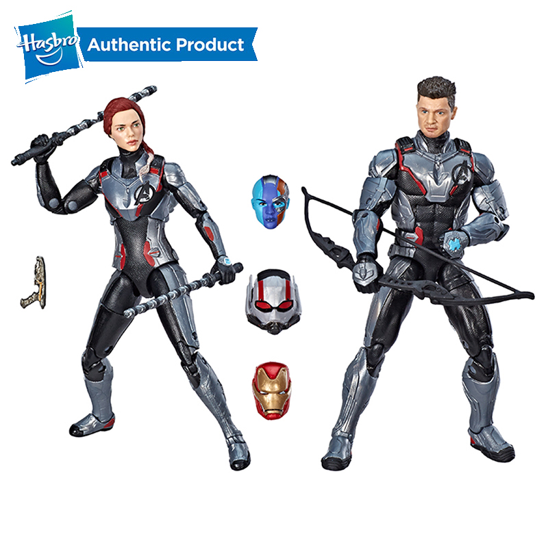 Hasbro Marvel Legends Series Black Widow Marvel's Hawkeye Figure 2-Pack Legends Team Suit 2PK Avengers 6-Inches Ant Man