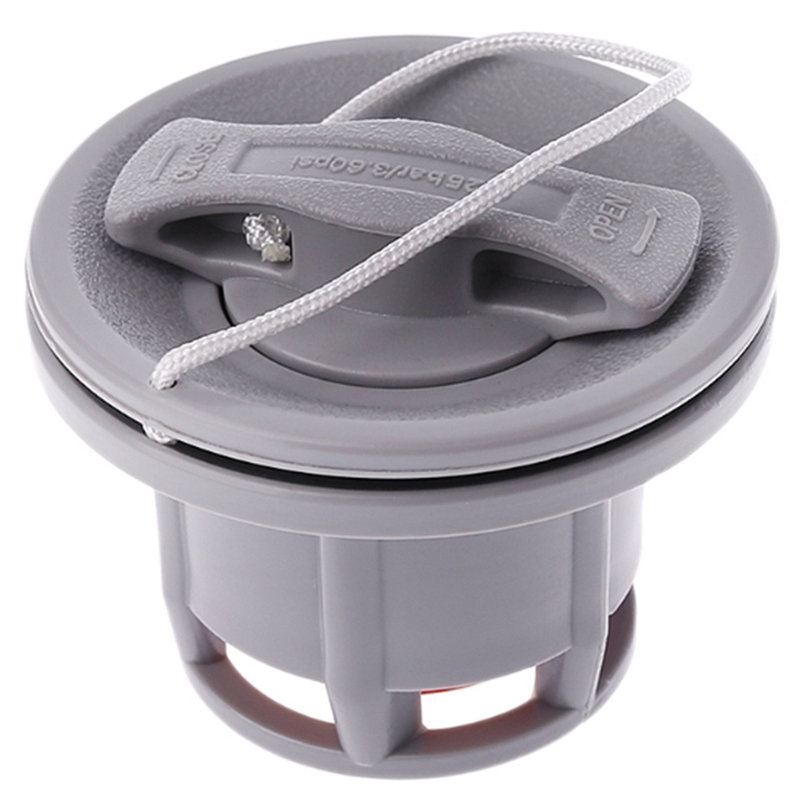 8 Holes Inflatable Boat Raft Dinghy Kayak Canoe Accessory Air Valve Adapter Cap(Gray)