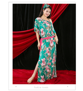 Новинка 2020, костюм для танца живота, народный халат для женщин, Saidi, тренировочный халат, свободное дизайнерское платье + лента для волос + поя...