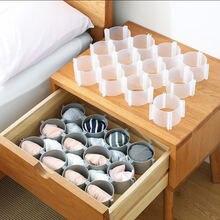 Gaveta divisor placa diy plástico roupa interior meias armazenamento treliça guarda-roupa compartimento tiroir diviseur tablero divisor