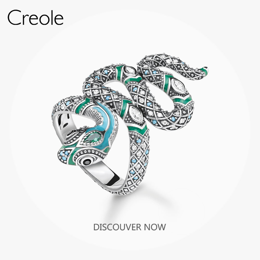 Ring Fascinating Snake,2019 Summer New Brand New 925 Sterling Silver Bohemia Fashion Jewelry Myth of the Jungle Gift For Women(China)