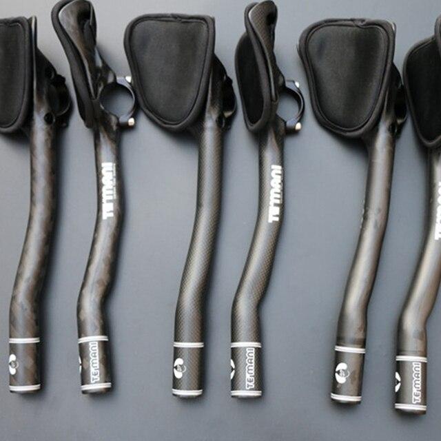 1 paire de vélo de route en Fiber de carbone Aero barre de repos VTT Tt attelle mouche morte vélo Tt barre bras repos 31.8Mm guidon pièces