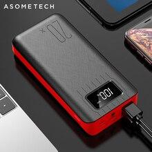 Внешний аккумулятор 20000 мАч с двойным USB портом, портативное зарядное устройство со светодиодным дисплеем для Xiaomi Mi9, iPhone, Samsung, Huawei