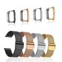 Cinturino Amazfit per Amazfit Bip S U Lite GTS 2 Mini cinturino con custodia in metallo 20mm bracciale proteggi schermo per accessori cinturino