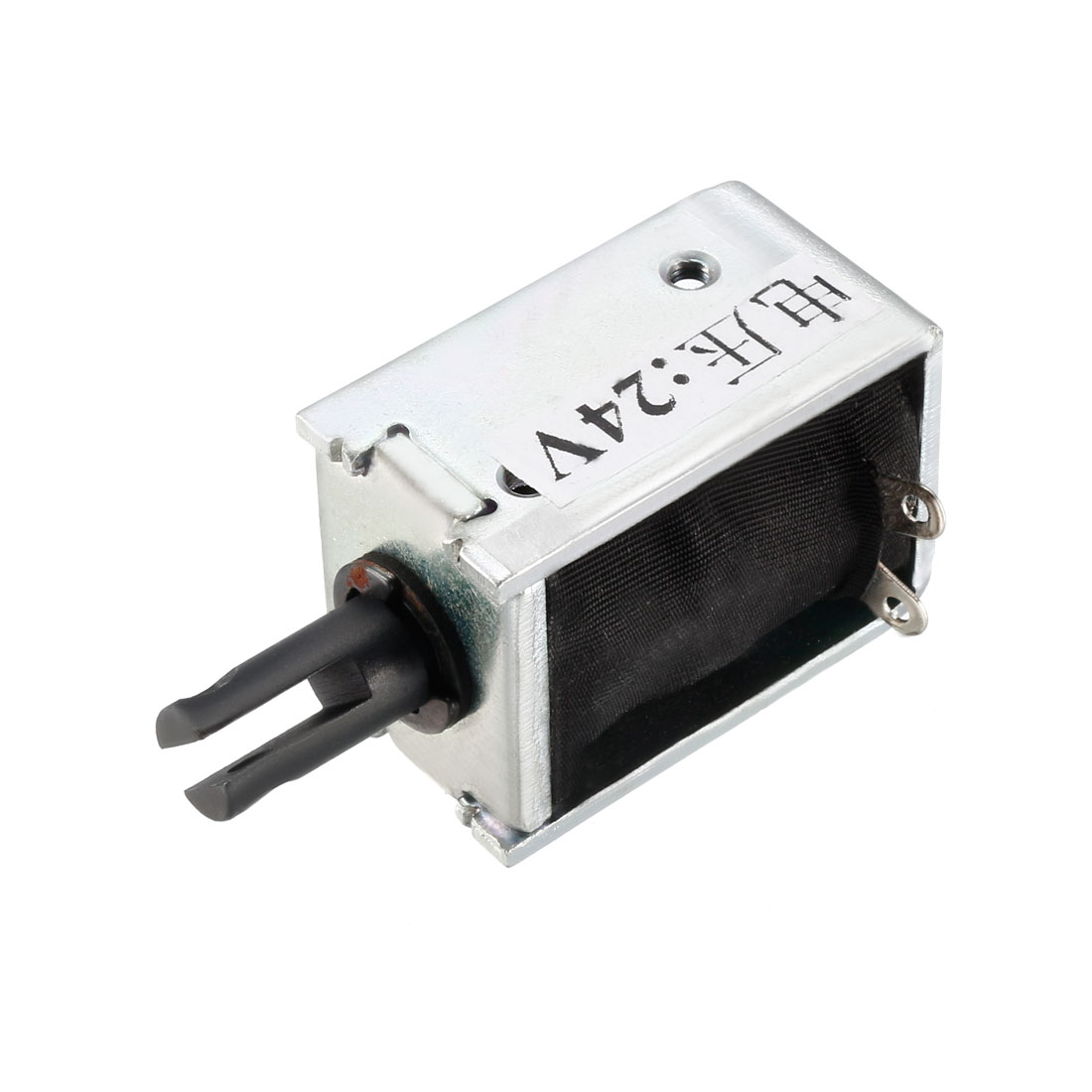 Uxcell DC 24V 15N 6mm Pull Type Solenoid Electromagnet, Open Frame, Linear Motion