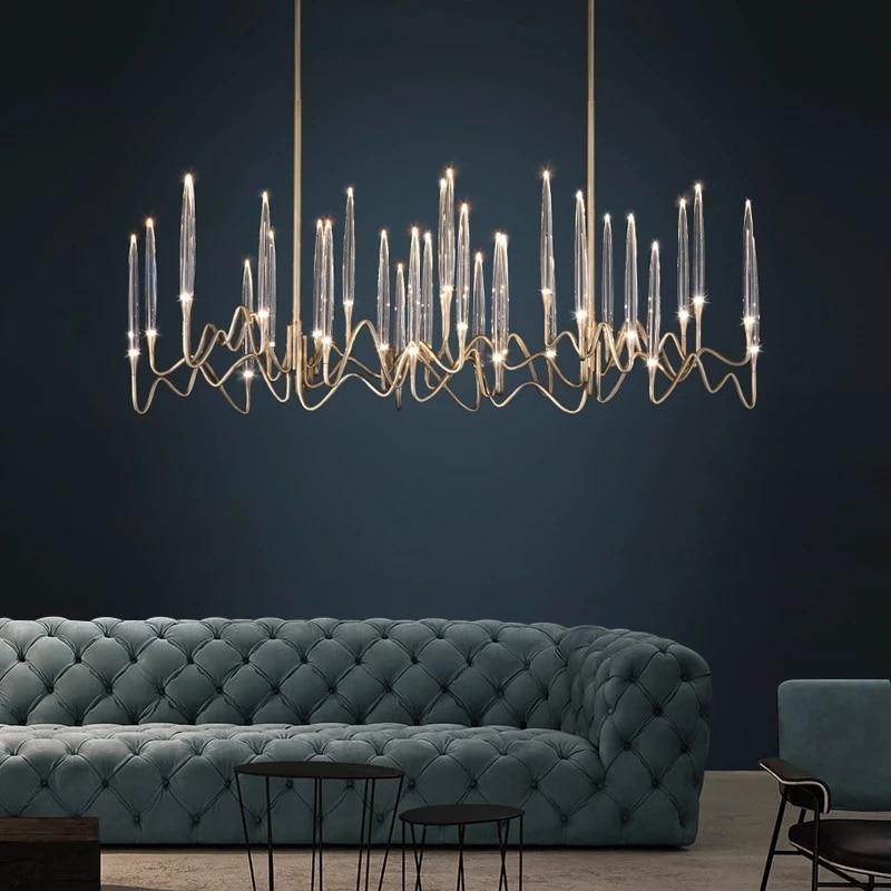 Modern Luxury LED Crystal Chandelier Tree Branch Candle Hanging Lights wedding Decoration Lamp For Dining Room Bedroom Decor
