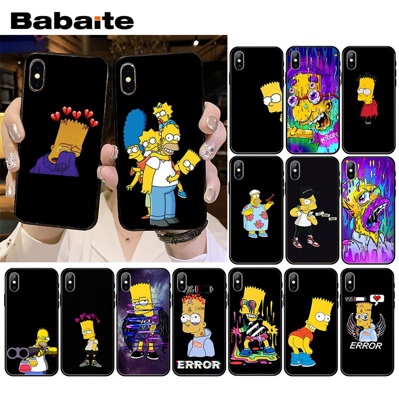 Чехол для телефона Babaite Funny Homer J.Simpson для iPhone XR 11 Pro MaxXS MAX 8 7 6 6S Plus X 5 5S SE image