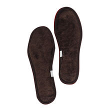 Winter Thickened Wool Insoles Sheepskin Fur Shoes Pad Women Fleece Keep Warming Shoe Soles Inserts Unisex Brown Thermal Insoles(China)