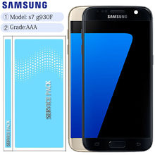ORIGINAL 5.1'' SUPER AMOLED LCD with Frame for SAMSUNG Galaxy S7 Flat Display G930 G930F Touch Screen Digitizer(China)