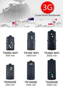Image 3 - 4G 3G GPS 추적자 차 중국 제일 GPS TK20G TK05G 방수 휴대용 재충전 전지 WiFi SD 자료 기록 장치 GSM 음성 감시자 벌레