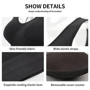 Image 5 - 3pcs/set Sexy Lingerie Bra with Pads Women Seamless Push Up Plus Size Sports Bralette Wireless Comfortable Sleep Active Bra