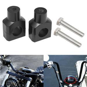 Motorcycle Universal Black 22mm Cafe Racer New Handlebar Riser Clamp For H onda CB400 CB200 125 Y amaha K awasaki K TM B MW(China)