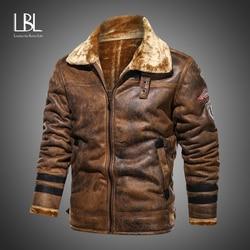 Brand Leather Jacket Men Winter Warm Thick Plus Size M-4XL Punk Faux PU Leather Jackets Motorcycle Retro Jacket Outerwear Coats