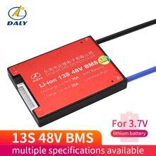 Daly 3,6 В 3,7 в 13 S 48 в E-bike литий-ионный аккумулятор 18650 BMS 16A 18A 25A 35A 45A 60A батарея BMS зарядное напряжение 54,6 в с балансом балансиры
