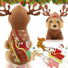 Get more info on the Dog clothing Christmas pet clothes moose antlers decorative dog hooded jacket autumn and winter warm legs winter new clothing