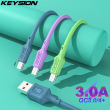 KEYSION 8mm USB Cable Fast Charging Type C Cable for Samsung A52 Charger Data Charge USB C Cable for Xiaomi Redmi Phone USB Cord