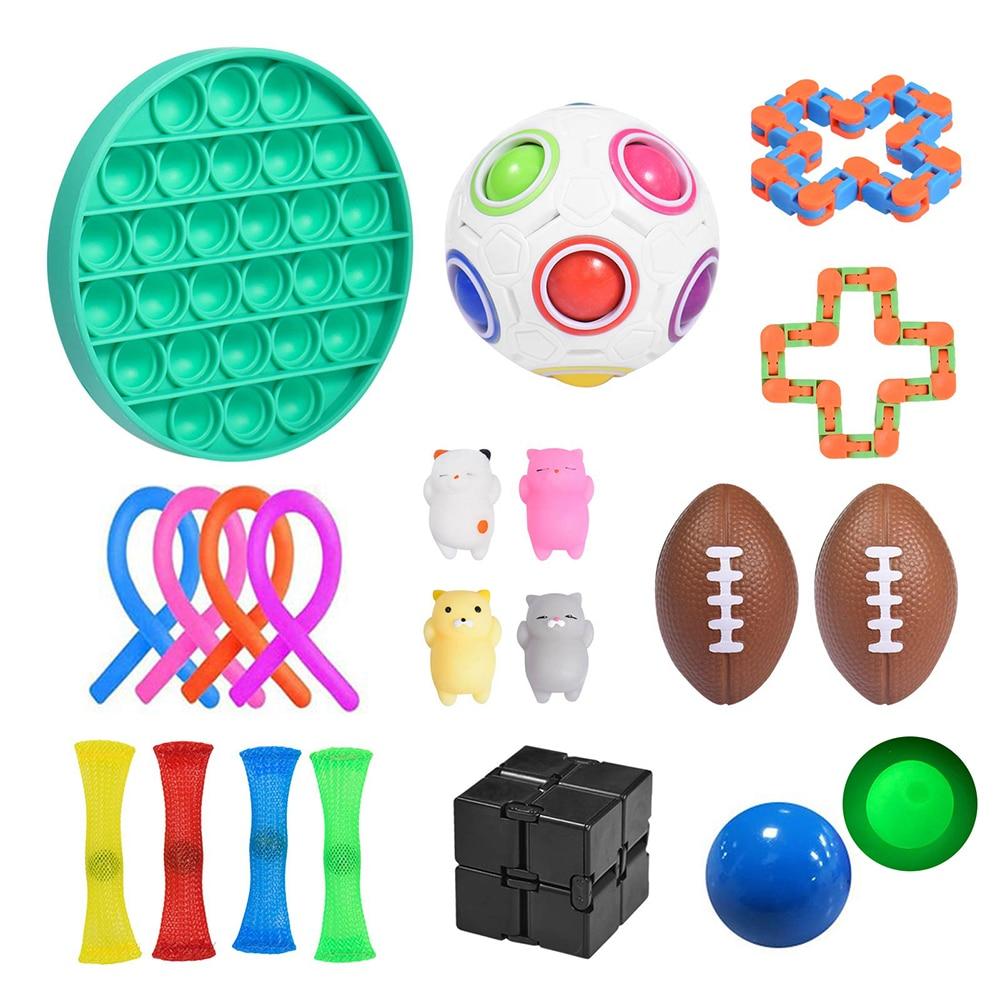 22 пакет Непоседа сенсорные набор игрушек, игрушка для снятия стресса, игрушки аутизм, тревожность снятия стресса поп-пузырь Непоседа сенсор...