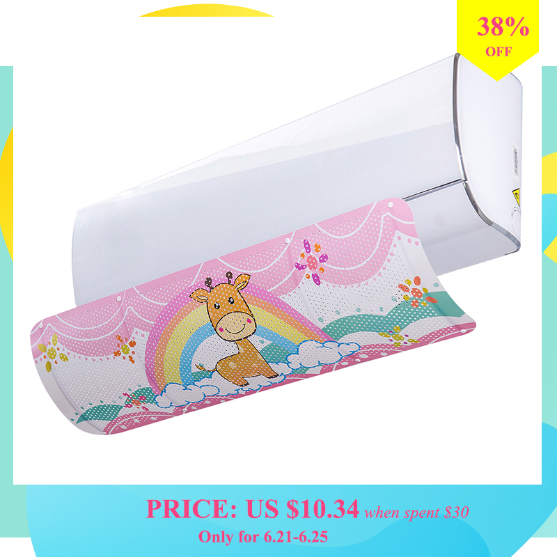 Air Conditioner Baffle Adjustable Air Conditioner Windshield Anti Direct Blow Wind Deflector for Bedroom Home Office