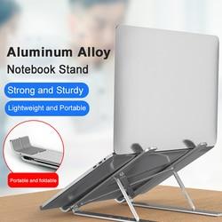 Chłodzenie notebooka uchwyt podstawka do laptopa składany regulowany aluminium pulpit wysokość podnoszenia stojak na Tablet na 11-17 cal notebooki