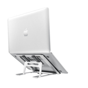 Image 1 - 5 biegów regulowany aluminiowy składany stojak na laptopa pulpit uchwyt na notebooka biurko stojak na laptopa na 7 15 calowy Macbook Pro Air