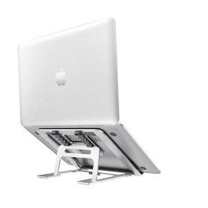 Image 1 - 5 dişli ayarlanabilir alüminyum katlanabilir dizüstü standı masaüstü dizüstü tutucu masası dizüstü standı 7 15 inç Macbook Pro hava