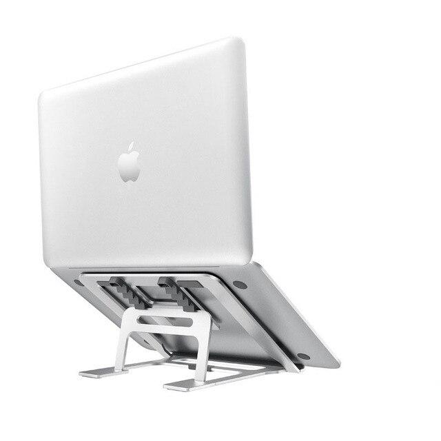 5 dişli ayarlanabilir alüminyum katlanabilir dizüstü standı masaüstü dizüstü tutucu masası dizüstü standı 7 15 inç Macbook Pro hava