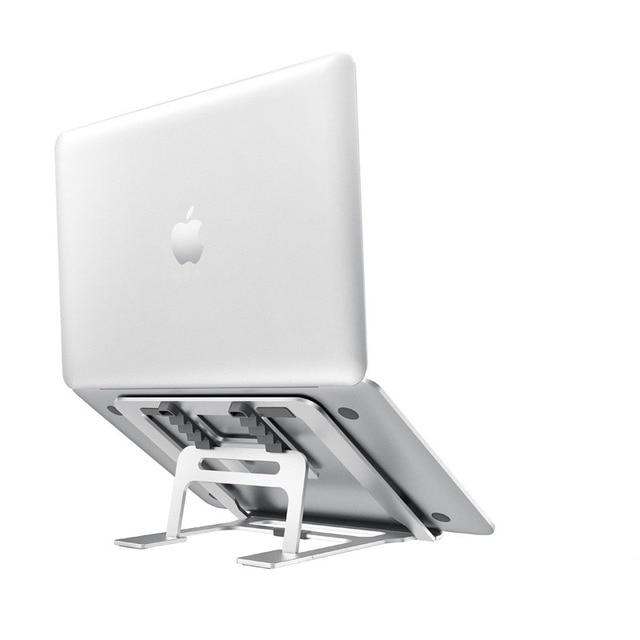 Support réglable en aluminium pliable pour ordinateur portable à 5 engrenages, pour ordinateur de bureau, pour Macbook Pro Air 7 15 pouces