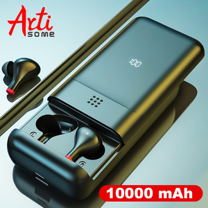 TWS Bluetooth наушники, 10000 мАч, беспроводные наушники, Bluetooth 5,0, аккумулятор 10000 мАч, IPX5 Водонепроницаемая гарнитура, TWS наушники