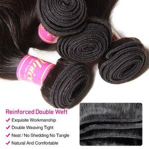 Image 4 - UNice mechones de cabello ondulado peruano de 28 pulgadas, extensiones de cabello humano 100%, tejido de cabello virgen, Color Natural, 1 unidad
