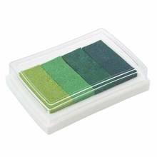 Inkpad Craft Multi Gradient Green 4 x Colors Ink Stamp Pad Oil Based