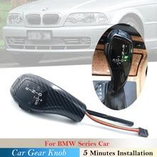 Para BMW 1 3 5 6 X3 X1 Z4 Série E E90 92 93 E60 61 63 E83 84 85 86 87 88 89 E46 E38 39 E53 Car Deslocamento de Engrenagem Knob Shifter Lever LED