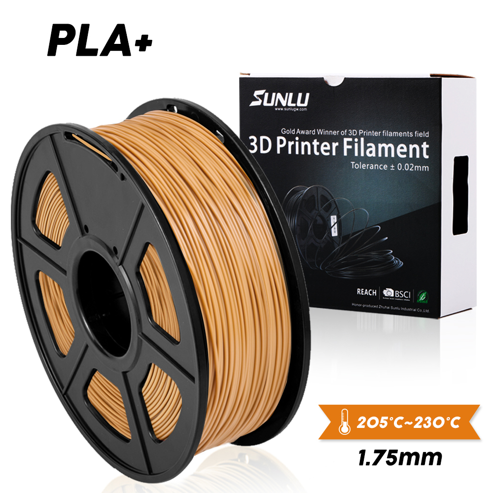 SUNLU PLA PLUS 3D Printer Filament 1.75mm 1KG/2.2lb Spool SUNLU DIY PLA+ Printer Filament Kids Diy Birthday Gift Printing