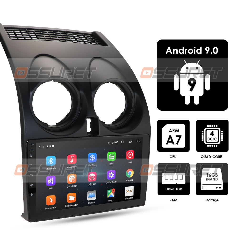 4G Android 9.0 Car Multimedia Player For Nissan Qashqai  2006 2007 2008 2009 2010 2011 2012 2013 GPS Navigation 2din Car Unit