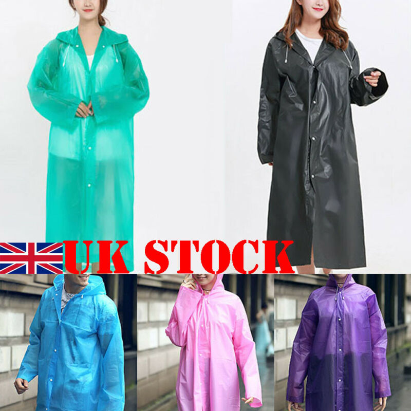Women Men Waterproof Raincoat Outdoor EVA Cloth Long Rain Coat Poncho With Hat Send In Random Color Or Note In The Order
