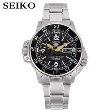 Seiko שעון גברים 5 אוטומטי שעון יוקרה מותג עמיד למים ספורט שעון יד תאריך mens שעונים צלילה שעון relogio masculino SNK