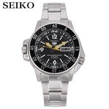 Часы seiko мужские с 5 автоматическими часами, брендовые водонепроницаемые спортивные наручные, с датой, для дайвинга