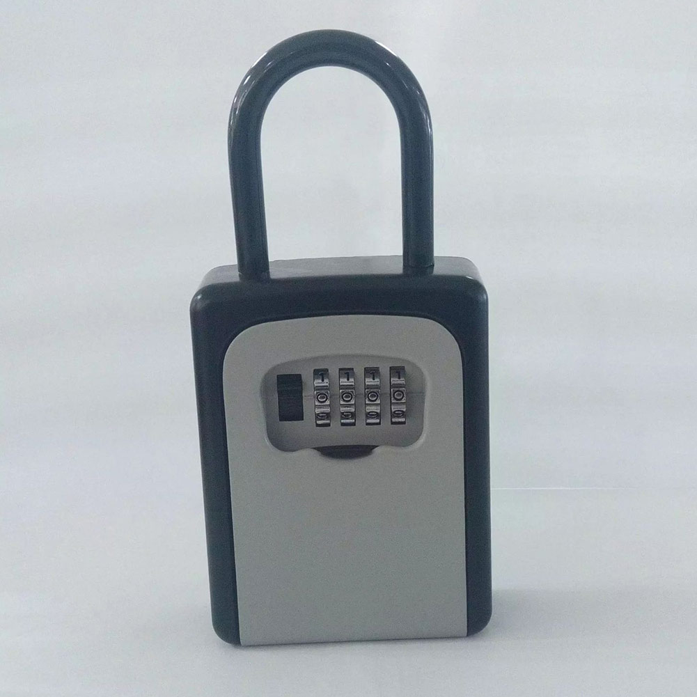 4-Digit Combination Lock Key Safe Storage Box Padlock Security Home Outdoor Supplies PR Sale