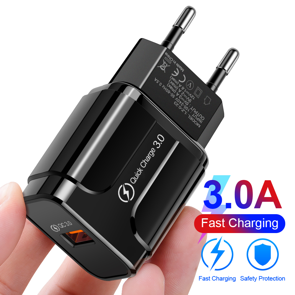 OLAF Quick Charge 3.0 Fast Usb Charger QC 3.0 Wall Mobile Phone Charger for iPhone X Xiaomi Mi 9 Tablet iPad EU QC Fast Charging