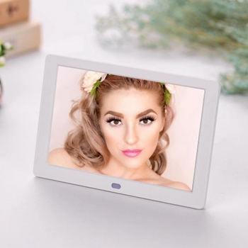 Retail 7 Inch LED Digital Photo Frame Desktop Electronic Album 1280x800 HD 16:9 Display Supports Music/Photo Player/Video/Alarm